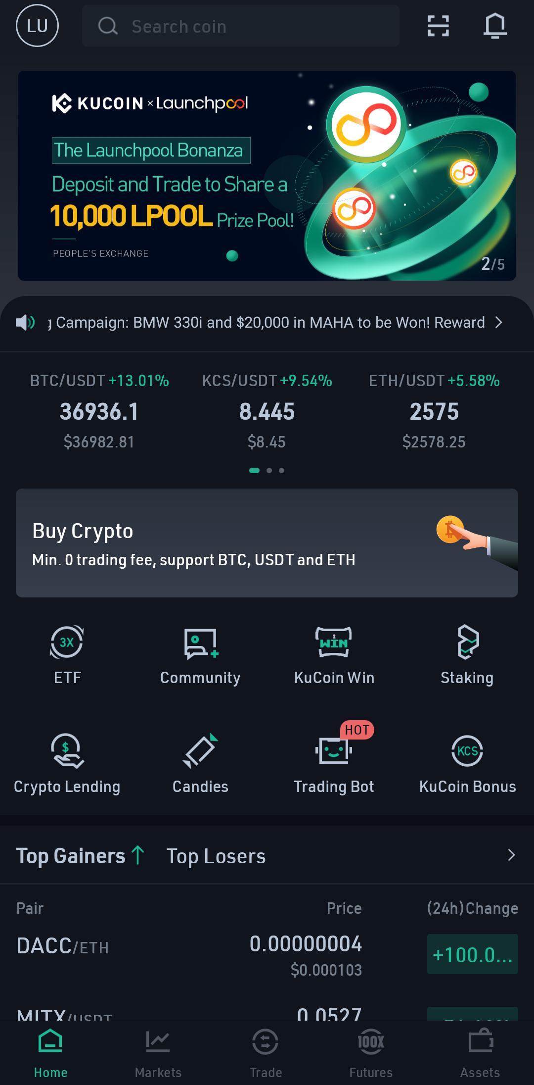 KuCoin Screenshot